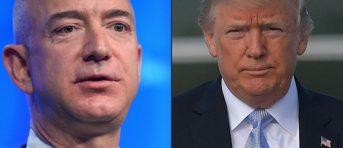"""Jeff Bozo"": Trump Seizes Long Awaited Opportunity To Blast Amazon Founder Jeff Bezos"