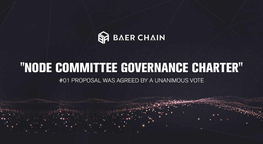 """""""Node Committee Governance Charter"""" Baer Chain #01 Proposal Was Agreed by a Unanimous Vote"""