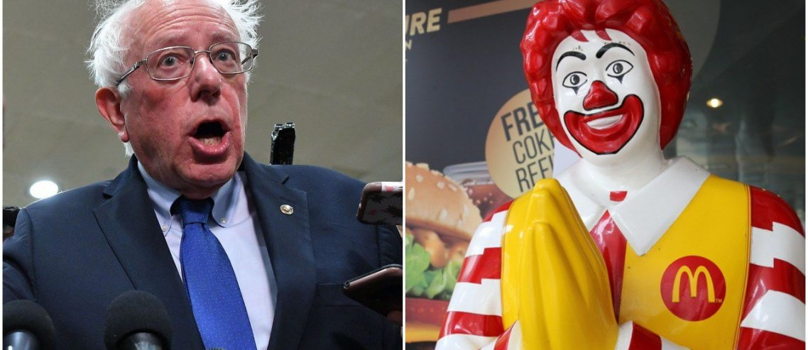 Bernie Sanders Bashes McDonald's, But His Wage Fight Has a Dirty Secret