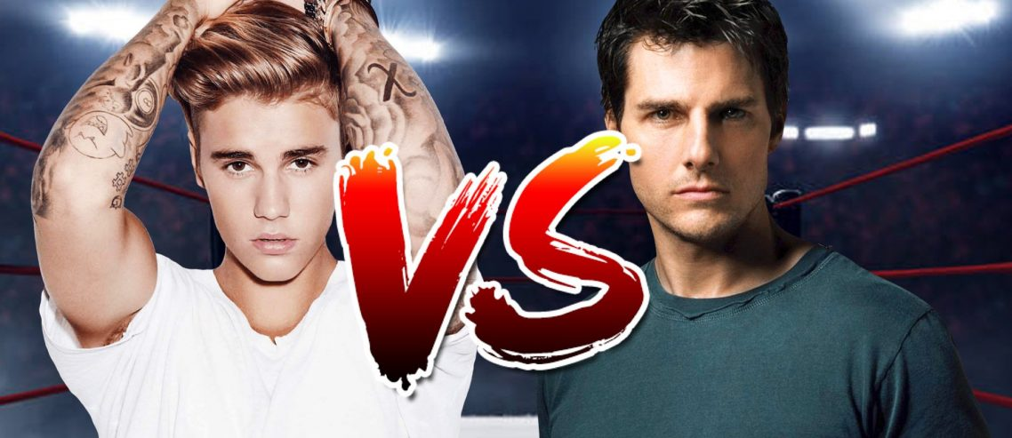What a bit! Justin Bieber Challenges Tom Cruise to a UFC Fight