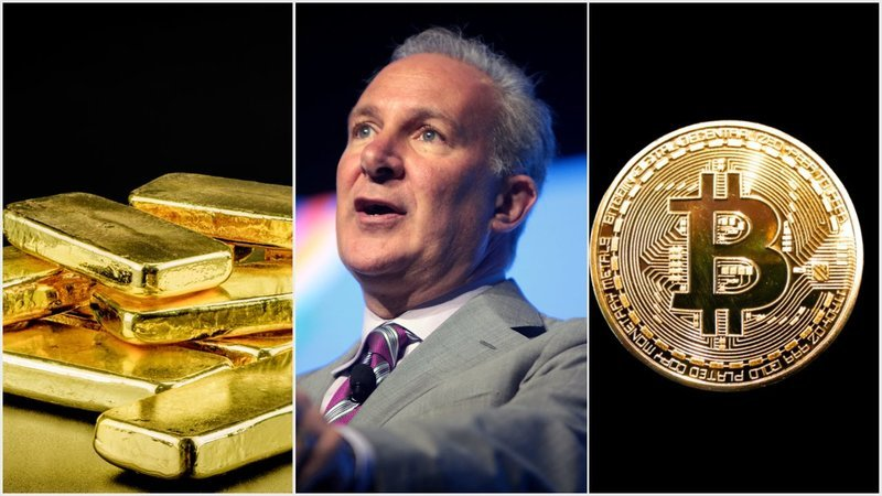 Gold Bug Peter Schiff Celebrates Metal's Pitiful Gains, Bashes Bitcoin