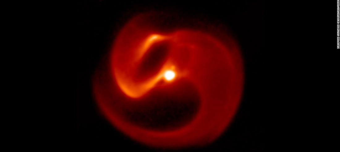 First-known 'pinwheel' star system is beautiful, dangerous and doomed