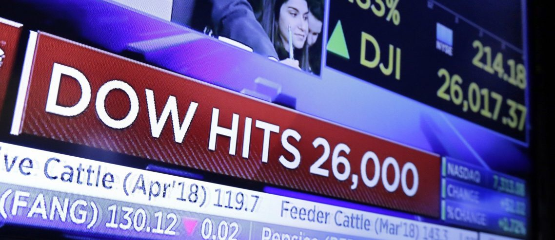 Dow Secures 9-Week Winning Streak, Roars Past 26,000 with Minutes to Spare