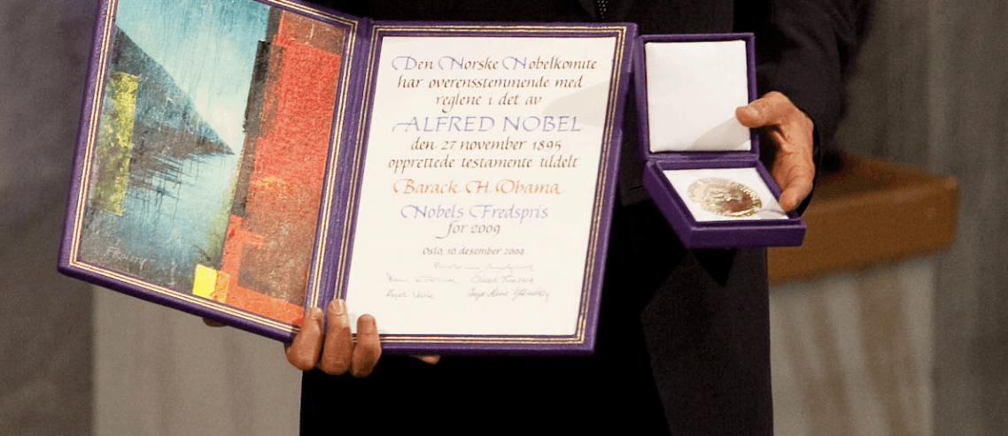 Obama's Nobel Prize Should Be Stripped, Awarded to Donald Trump Instead