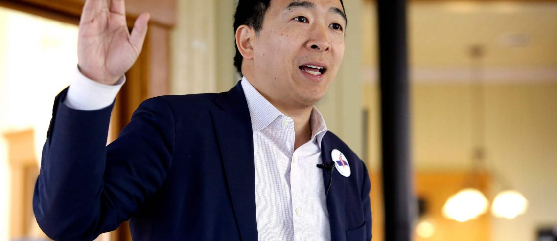 Andrew Yang's Crazy UBI Plan: Give Lazy Freeloaders $12,000 Every Year for Doing Nothing