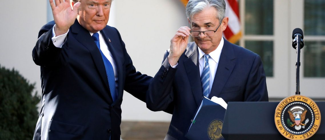 Dow Futures Plunge 200 Points while Fed Chair Powell Claps Back at Trump